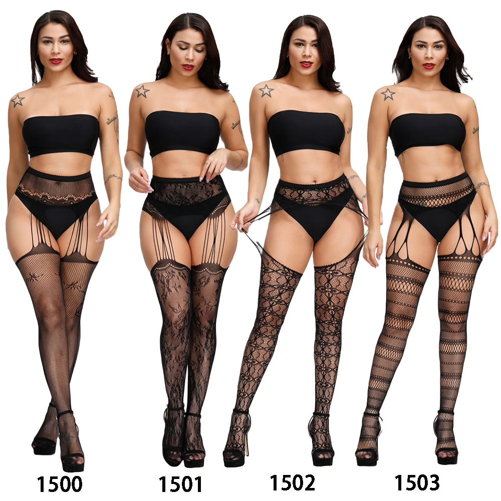 H536c1a5359df42a281c9e25f155a2e2dc Lencería Sexy Porno erótico para mujer, lencería de talla grande, ropa interior, muñecas, medias sin entrepierna, encaje transparente sólido
