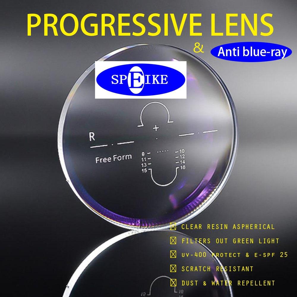 SPEIKE  Progressive Anti Blue-ray Lenses  Myopia Control  Interior Progressive Multi-focal Addition Lens Aspheric  PAL   UV400