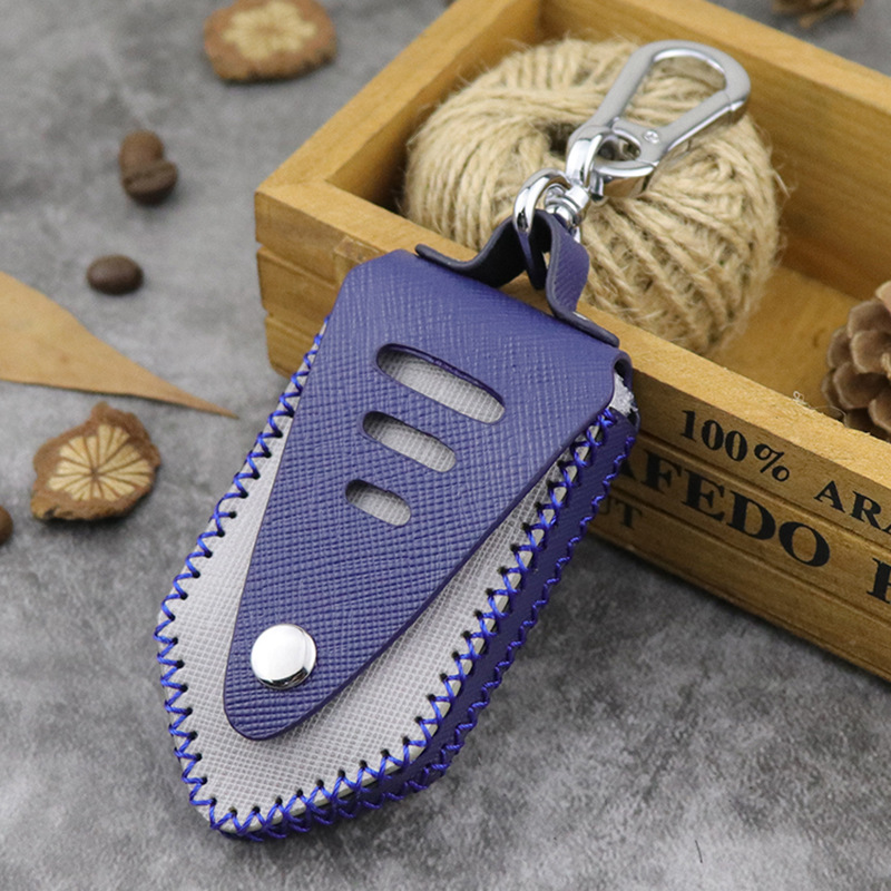 2019 New Men's Genuine Leather Car Key Case Cover Wallet Bag Fashion Women Keys Housekeeper Handmade Personalized Car Key Holder