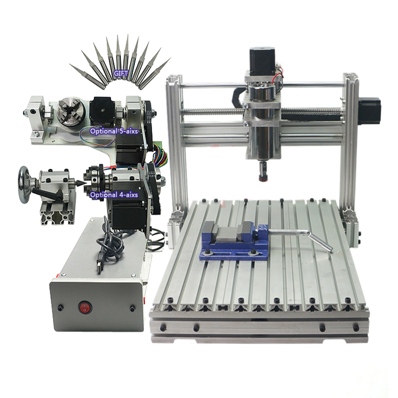 CNC Engraver Milling Machine DIY 3040 PCB Carving Wood Engraving Mach3 USB Port With ER11 CNC 4030 Woodworking Wood Routers 1