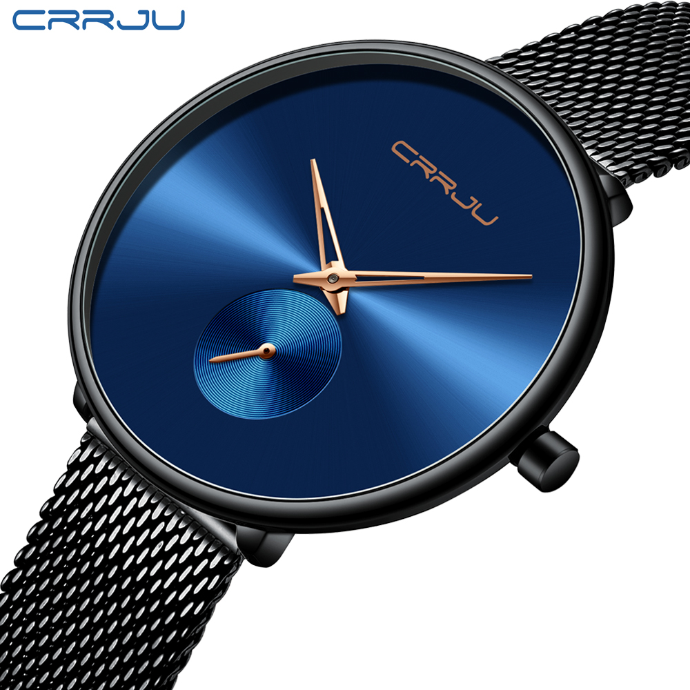 Top Luxury Brand CRRJU Women Watch Stylish Simple Ladies Daily Dress Mesh Wristwatch Fashion Wasterproof Quartz Female Clock