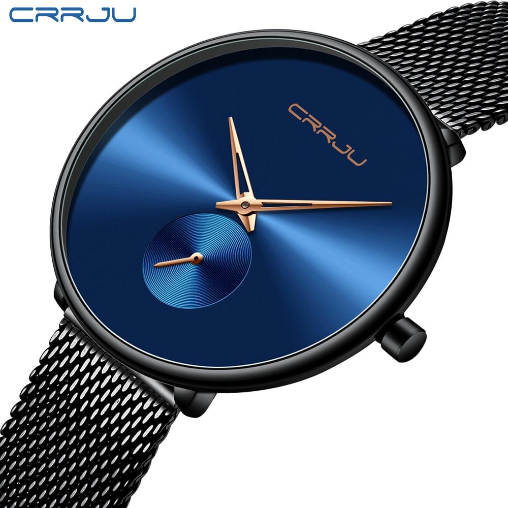 Top Luxury Brand CRRJU Women Watch Stylish Simple Ladies Daily Dress Mesh Wristwatch Fashion Wasterproof Quartz Female Clock