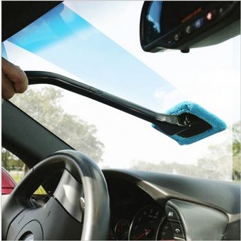 Microfiber Long Handle Car Wash Brush Car Washer Auto Window Clean Windshield Cloth Car Washing Tools Washable Shine Handy image