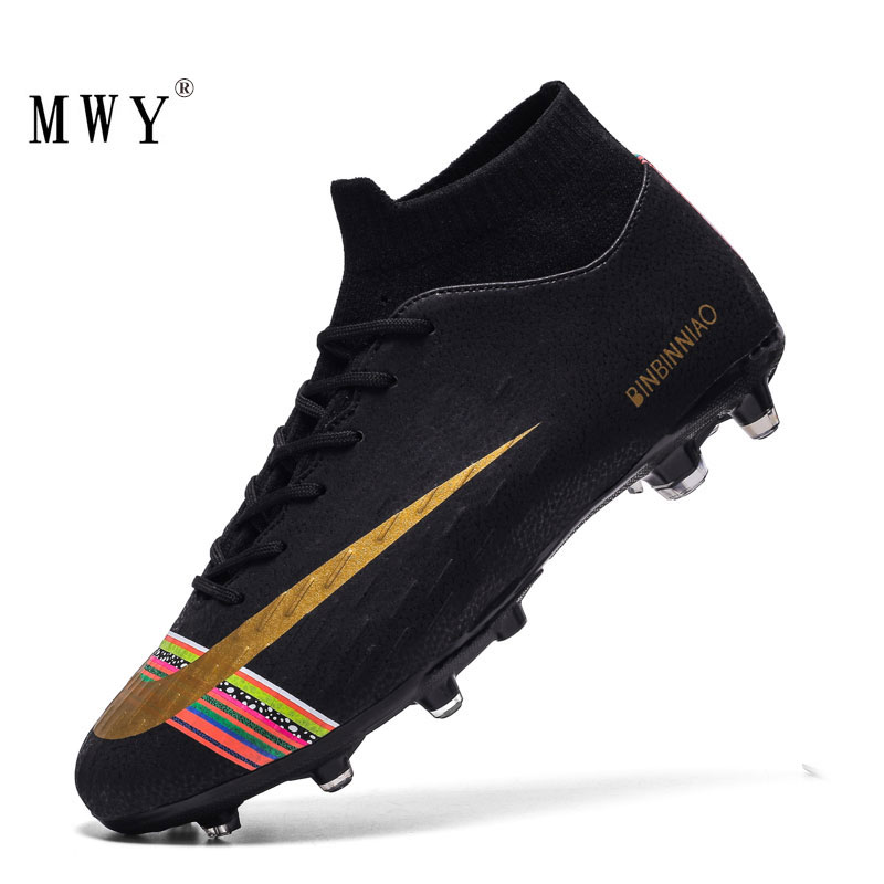 Men Football Soccer Cleats Long Spikes Sneakers Soft Indoor Turf Futsal Child Soccer Shoes Boots Dropshipping Children Footwear