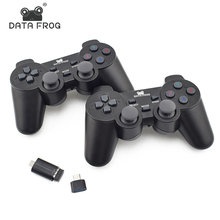 Data Frog 2 Pcs Wireless Game Joystick For Android Mobile Phone 2.4G Joystick Gamepad For PC Dual Controller