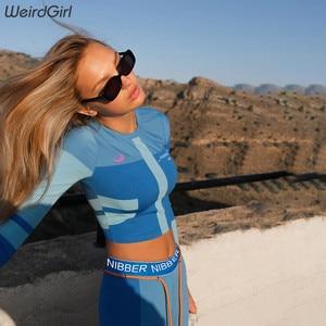 Image 4 - נשים סטי 2 חתיכות כושר הדפסת אימונית מלא tshirts אלסטי ארוך גבוהה מותן סקיני חותלות מקרית ספורטוויר חדש