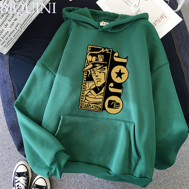 Harajuku Fashion JoJo's Bizarre Adventure Hoodies Sweatshirts Mens Hoodie Hot Fashion Suitable Kids JoJo Boys Girls Pullover Top 3