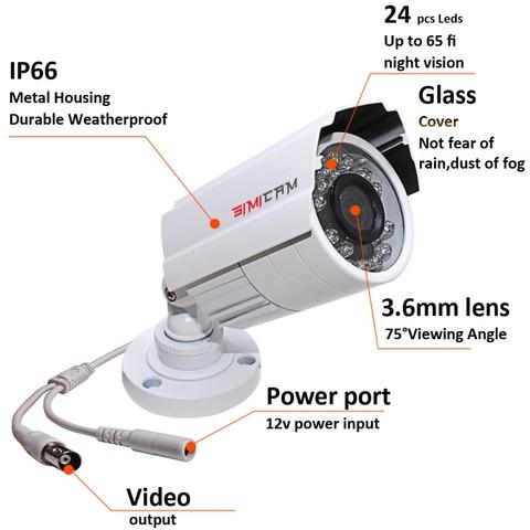 cctv 2 camera analogica hd 720 p