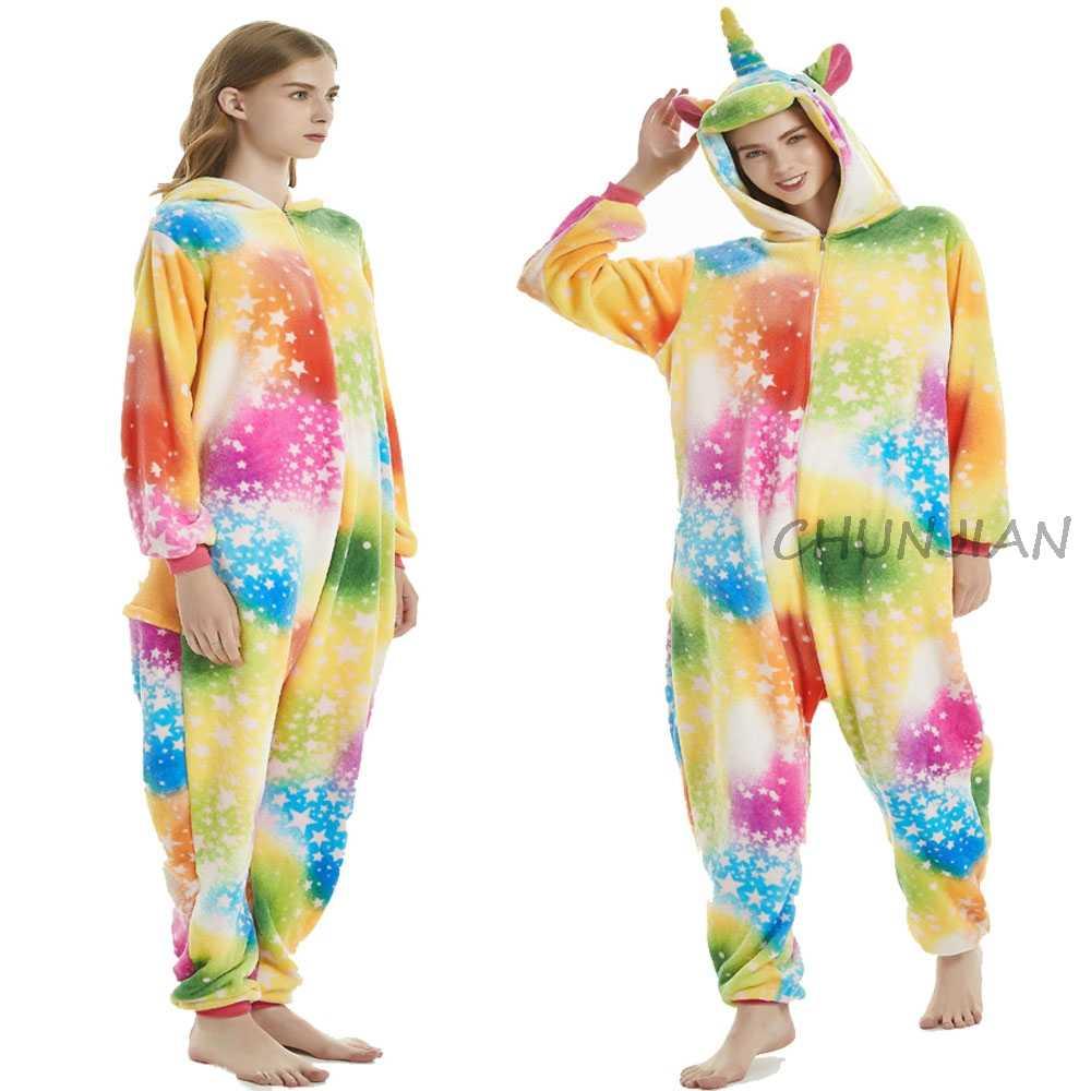 Jumpsuit Vrouwen Nachtkleding Konijn Flanel Nieuwe Dieren Cartoon Dier Mens Dier Pyjama Pyjama Hooded Familie Pyjama Overalls