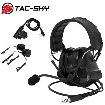 TAC-SKY new tactical headphones  COMTAC III anti-noise sound amplification shooting headphones and U94 PTT and ARC bracket tactical comtac ii anti noise sound amplification electronic noise reduction shooting headphones and tactical ptt u94 ptt de