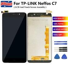"""100% נבדק עבור TP קישור TP קישור Neffos C7 LCD תצוגת מסך מגע חיישן הרכבה 5.5 """"Neffos C7 TP910A TP910C טלפון סלולרי + כלי"""