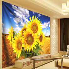 Sunflower Wall Decorative Tapestry Large Mandala Tapestry Wall Hanging Floral Bohemian Polyester Cloth Thin Curtain Fabric 300cm decorative wall hanging floral print tapestry