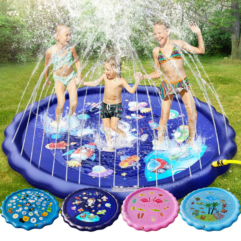 2020Inflatable Splash Pad Sprinkle Splash Play Mat Outdoor Backyard Sprinklers Toys For Kids Dog Fountain Baby Water Wading Pool