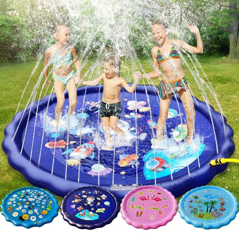 2020Inflatable Splash Pad Sprinkle Splash Play Mat Outdoor Backyard Sprinklers Toys For Kids Dog Fountain Baby Water Wading Pool