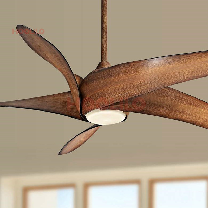 Hoolilo High Quality 60inch Size Light Wave Wood Led Ceiling Fan With Remote Control 110v 220v Modern Ceiling Fan