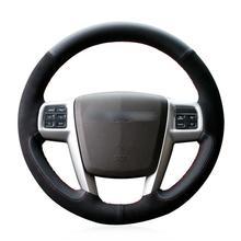 For Chrysler Grand Voyager car steering wheel cover black artificial leather for chrysler 300c 200 car steering wheel cover black artificial leather antiskid