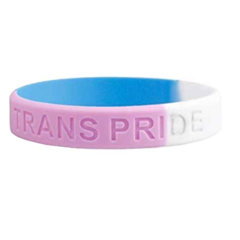 18 tipos Unisex LGBT Arco Iris letras pulsera deportiva seis colores Orgullo Gay lesbianas silicona brazalete de goma desfile de fiesta