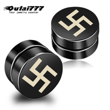oulai777 stainless steel women earrings 2019 men clips without piercing punk simple non pierced for womens mens