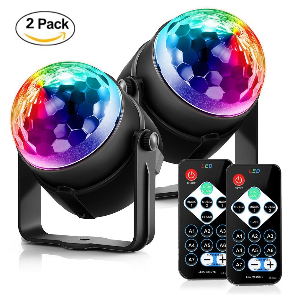 RGB LED Party Effect Crystal Magic Ball Light Stage Lighting 9W Mini Lamp Bulb Party Disco Club DJ Light Show US/EU/UK Plug