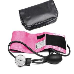 Image 4 - Professional Adult Manual Blood Pressure Monitor BP Cuff Upper Arm Aneroid Sphygmomanometer Tonometer with Pressure Gauge