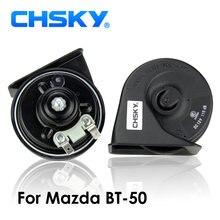 Tipo chifre do caracol do chifre do carro de chsky para mazda BT-50 2006 a 2018 12v loudness 110-129db chifre automático tempo da longa vida alta baixa klaxon