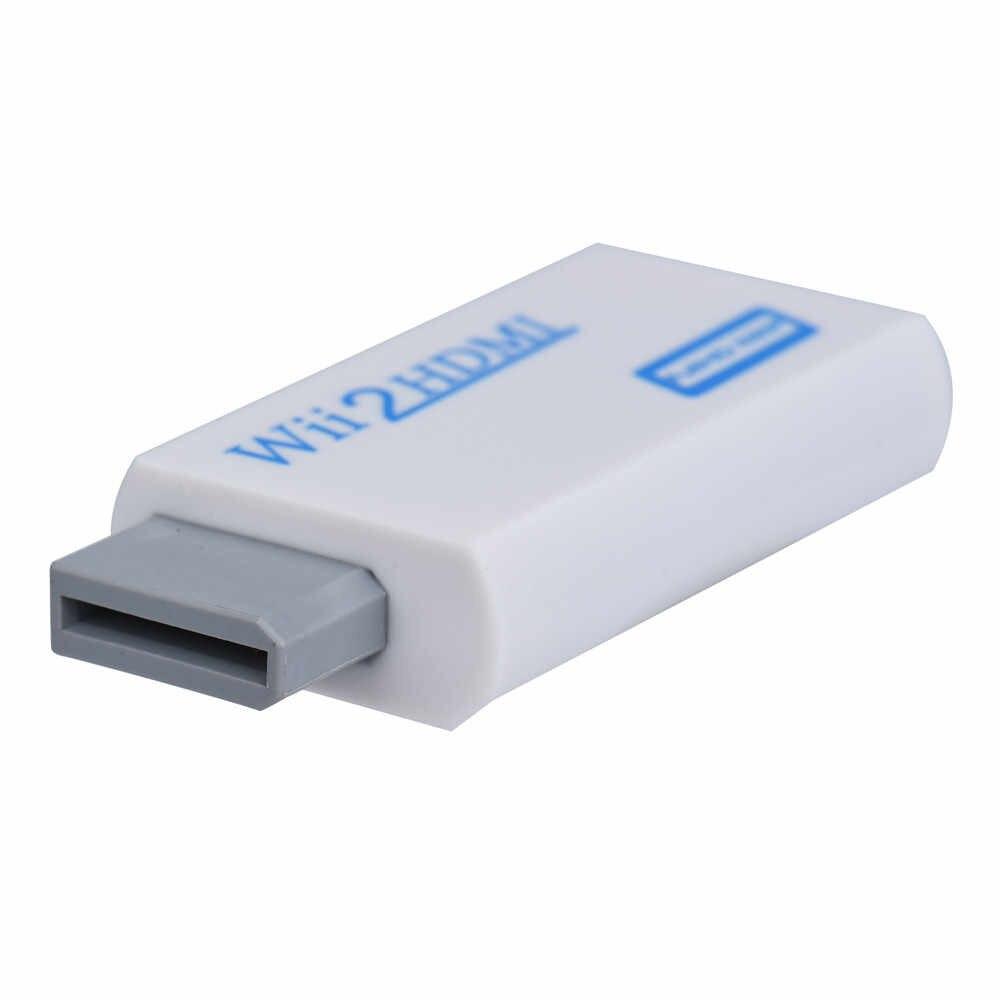 Carprie Baru Kualitas Tinggi Full HD HDMI 1080P Adaptor dengan 3.5 Mm Audio Output untuk Wii 2 Putih dropshipping