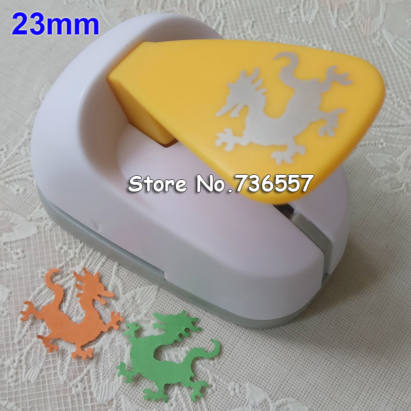 Free Shipping 23mm Dragon Shaped Save Power Paper/eva Foam Craft Punch Scrapbook Handmade Puncher DIY Animal Hole Punches