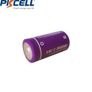 Image 3 - 20Pcs/PKCELL 3.6V C גודל ליתיום סוללה ER26500 9000Mah Li SOCl2 סוללה