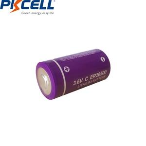 Image 3 - 20Pcs/PKCELL 3.6V C size Lithium Battery ER26500 9000Mah Li SOCl2 Battery