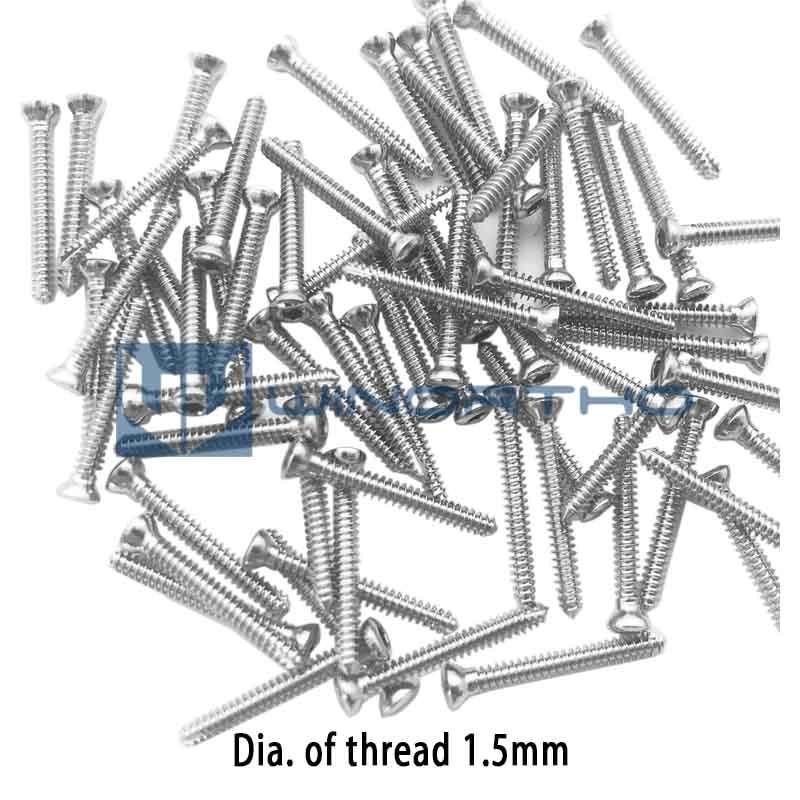 1.5mm Pet Hex Cortical Bone Self-tapping Screws Small Animal Orthopedic Equipment Medical Orthopedics Instrument