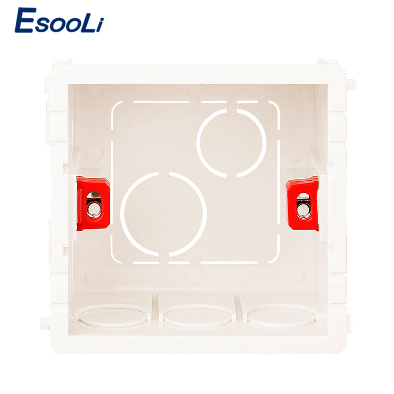 EsooLi 3 Colors Adjustable Mounting Box Internal Cassette 86mm*83mm*50mm For 86 Type Touch Switch And Socket Wiring Back Box