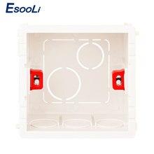 EsooLi-boîte de montage réglable en 3 couleurs, Cassette interne 86mm * 83mm * 50mm pour interrupteur tactile de Type 86 et boîtier de câblage de prise