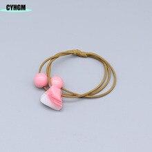 CYHGM girls elastic hair bands velvet satin scrunchies pack hair accesorios gumki do wlosow opaska korean style women F04 цена