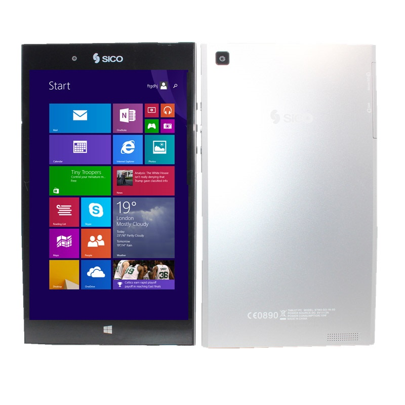 8 inch LED Tablet PC support 3G Network Intel Baytrial-T Z3735F Windows 8.1Quad Core 1+16GB 1280 X 800 IPS