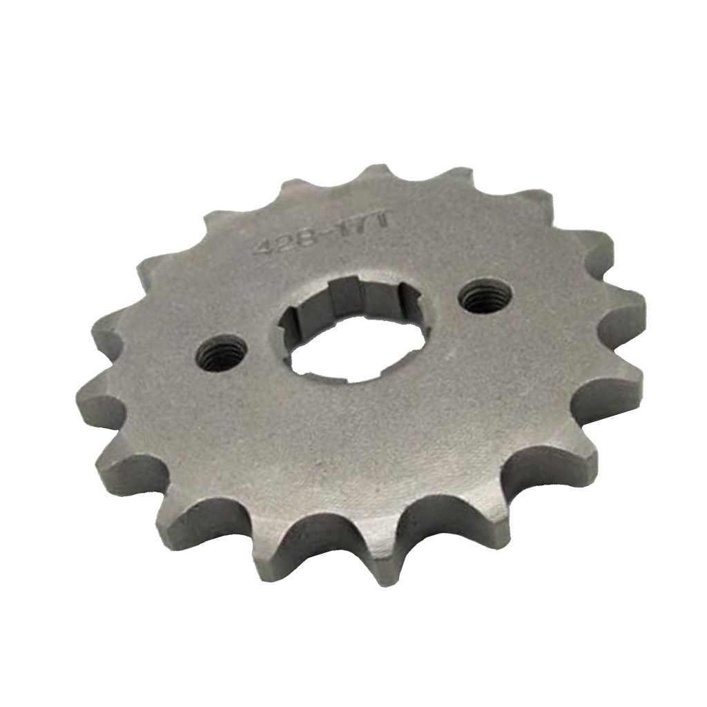 17 Teeth 428 Chain Front Sprocket / Cog Inclination 20 Mm For