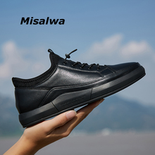 Misalwa Genuine Leather High Quality Men Shoes Casual Daily