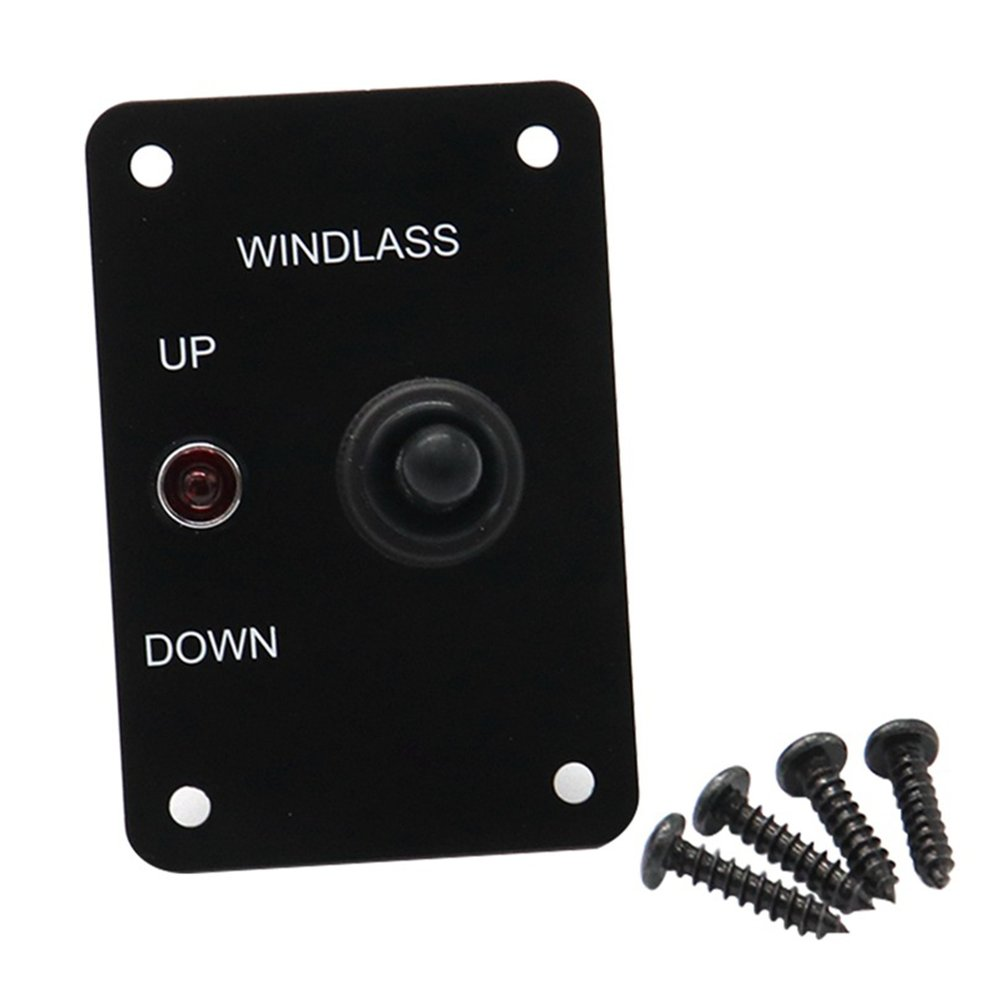 Professional With LED Light Car Anchor Windlass UP/DOWN Toggle Switch Control Panel With Red Indicator Light For Marine Boat