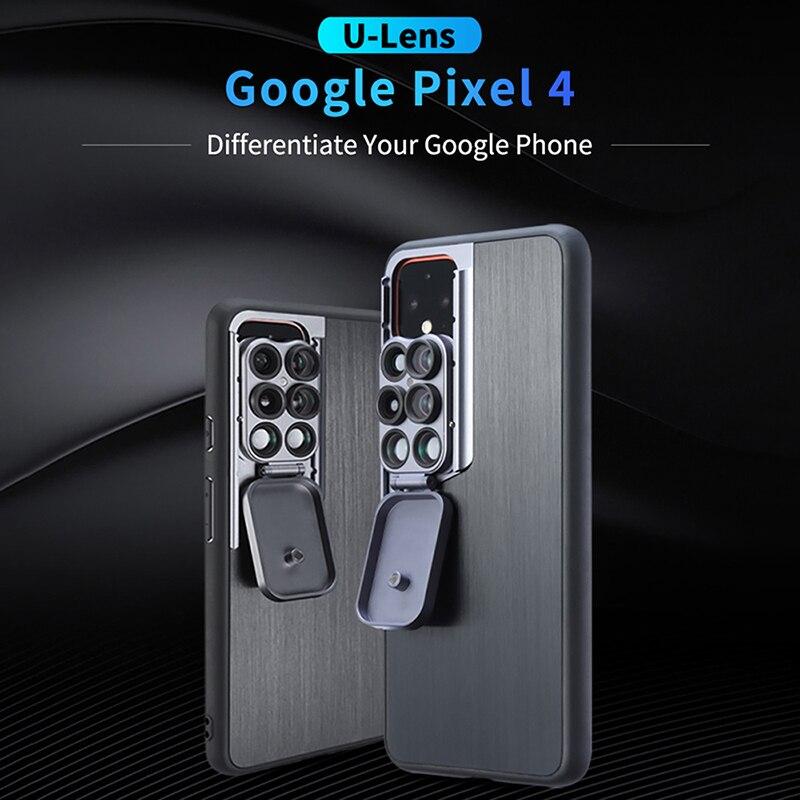 Image 2 - Ulanzi 5 in 1 Phone Lens Case Kit 20X Super Macro Lens CPL  Fisheye Telephoto Lens for iPhone 11 Pro Max Pixel 4 4XLMobile Phone  Lens