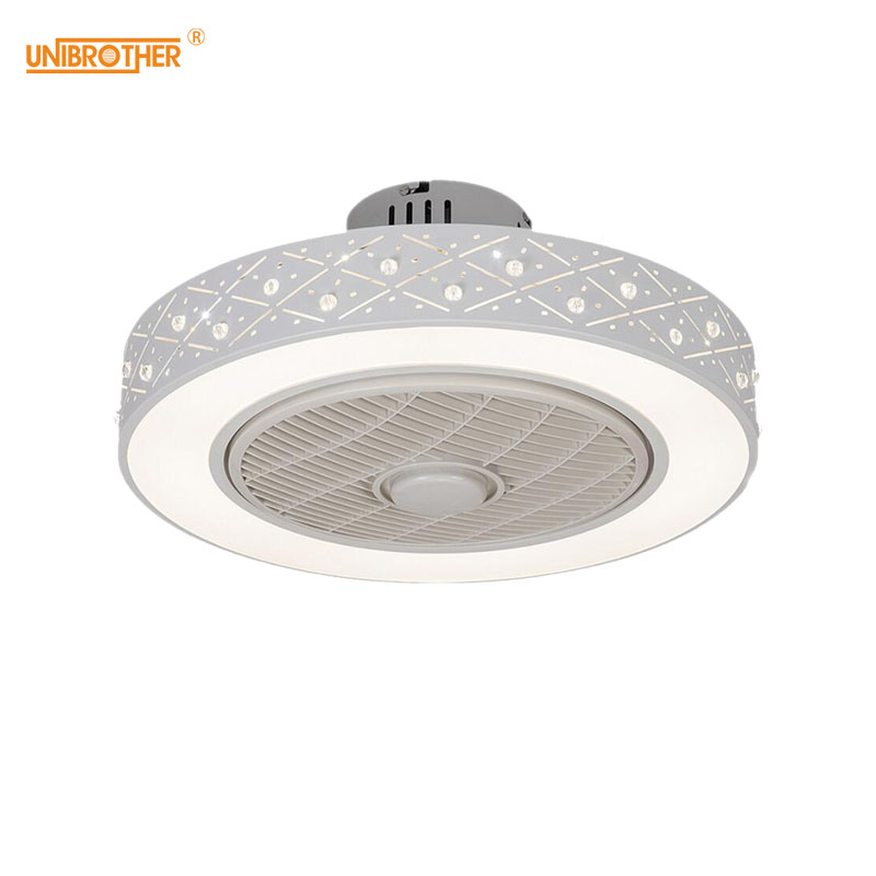 50cm Ceiling Fan Remote Control with Lights Smart Cell Phone APP Wi-Fi Indoor Home Decoration Modern Lighting Circular Round