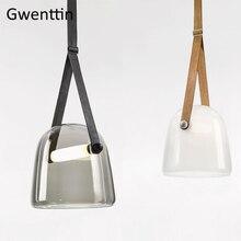 Moderne Mona Glas Anhänger Lichter Led Gürtel Hängen Lampe für Wohnzimmer Schlafzimmer Küche Leuchten Suspension Leuchte Wohnkultur