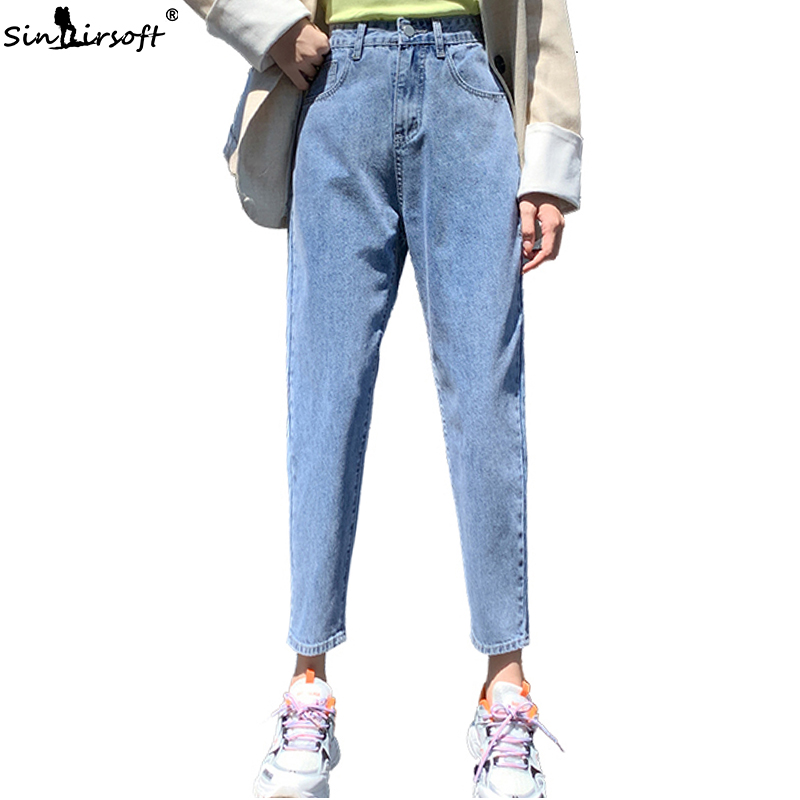 Autumn New Loose Wide Leg High Waist Jeans Woman Cotton Soft And Comfortable Slim Fashion Wild Harlan Trousers Women