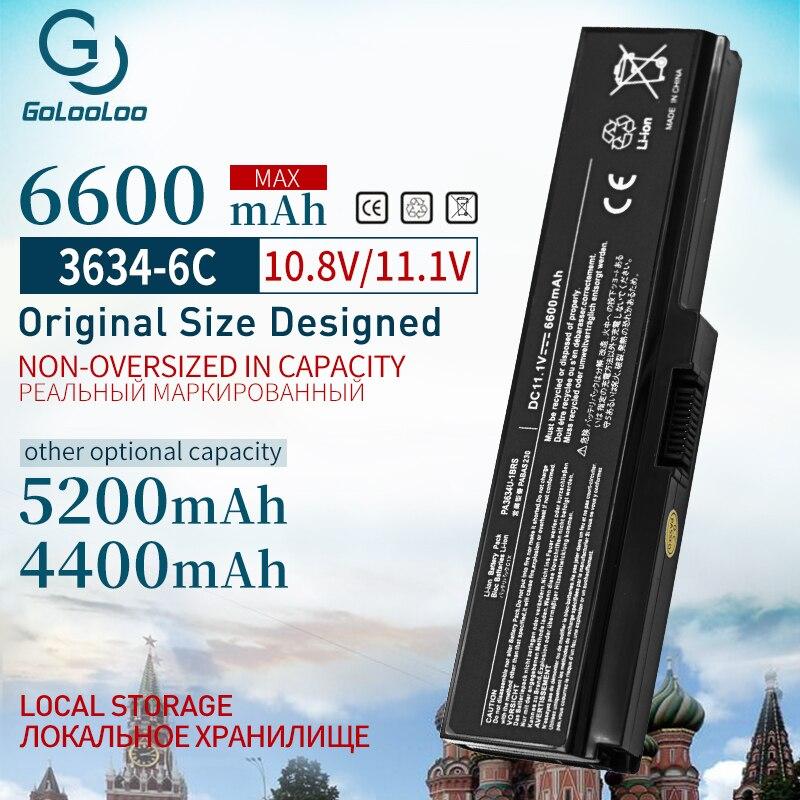 Golooloo 11.1 v 4400 mAh Bateria Do Portátil para Toshiba Satellite C660 PA3635 PA3634 A665D C640 C645D C640D C650 C655 C655D c660 C660D