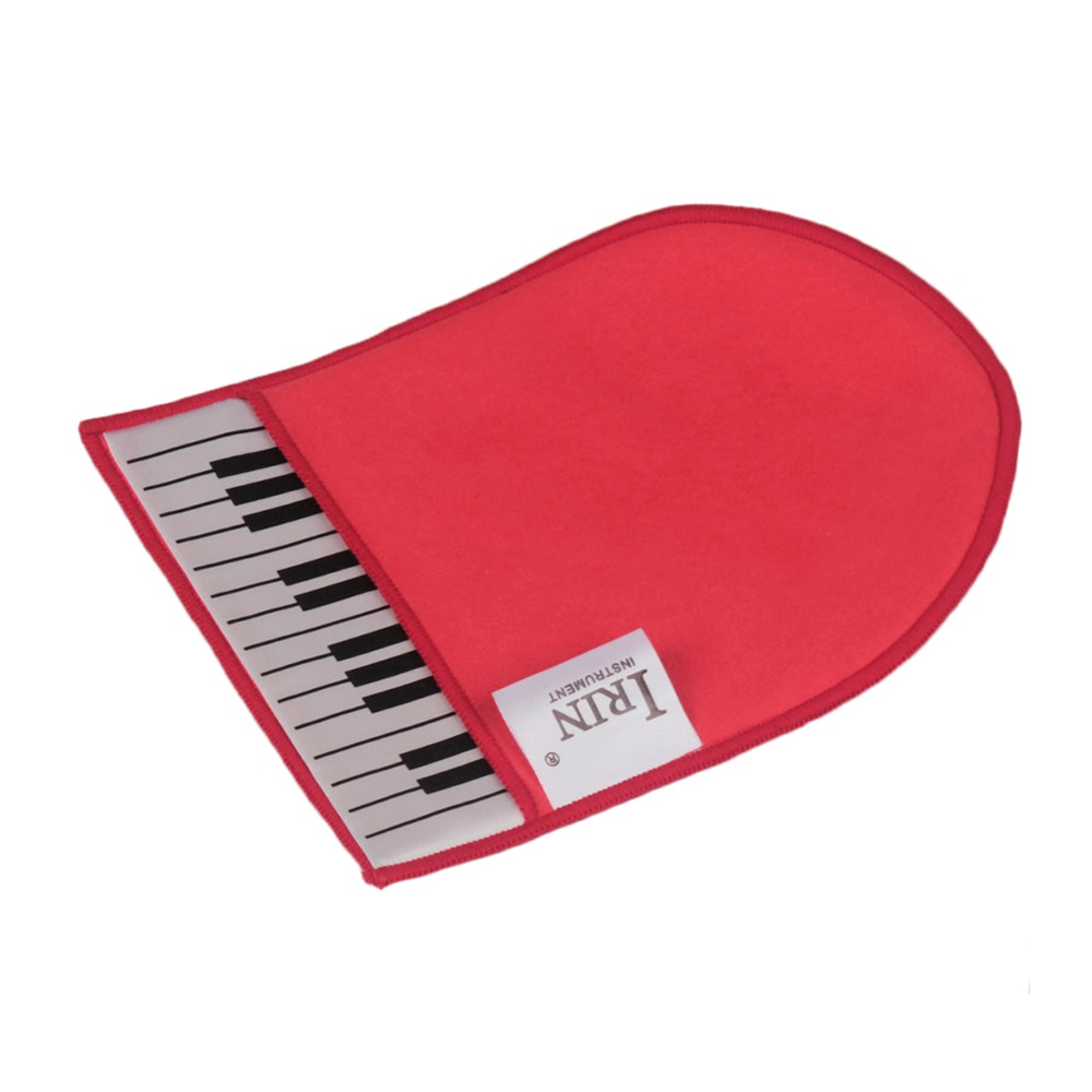 IRIN Cleaning Cloth Piano Keys Clean Glove Musical Instrument Cleaning Cloth Soft Microfiber with Piano Keyboard Pattern Design