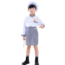 Halloween Cosplay Boys Kid Clothes Chef Uniform Matching Hat Kitchen Toys 6T-10T Carnival Role Play Girl Prom Gown Costume