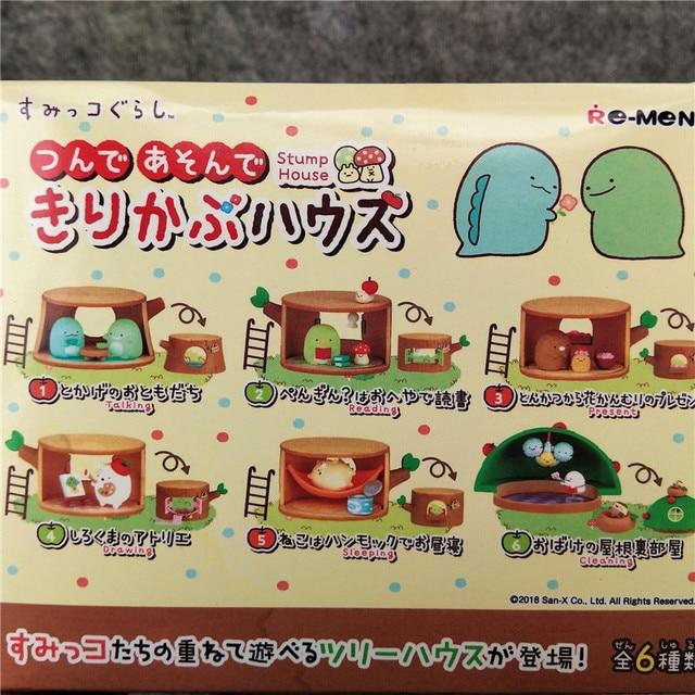 Sumikko Gurashi JP Action Toy Mini Figures Collection Tree Stump Doll House Blind Box 6 Kits/Lot Birthday Gift for Girl Children