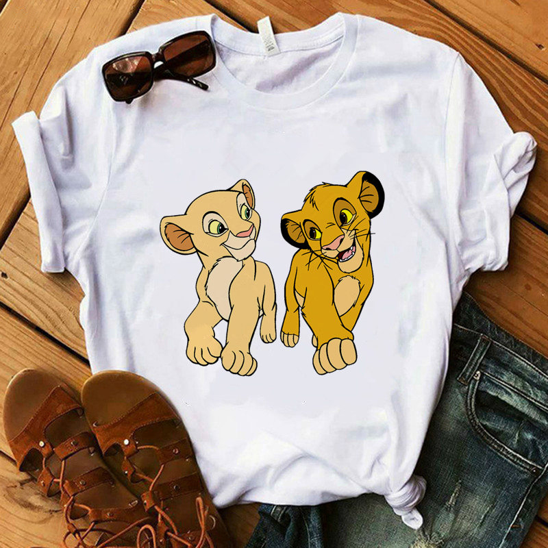 Hakuna The Lion King Cartoon T Shirt Women Summer Short Sleeve Shirts Female T-Shirt Harajuku Kawaii Casual Oversized Tshirt