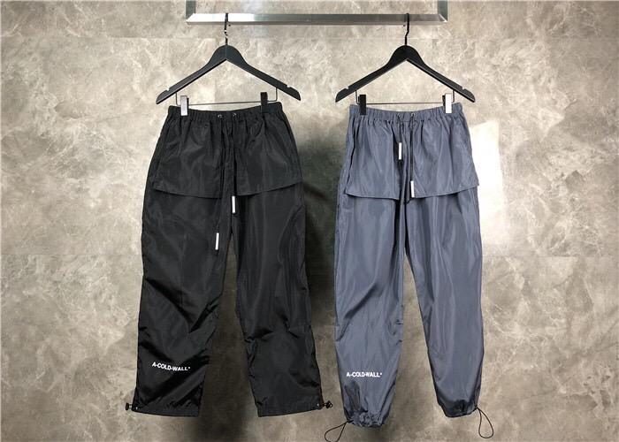 19SS A froid mur pantalon hommes femmes lâche fit cordon survêtement survêtement Streetwear hip-hop ACW pantalon A-COLD-WALL pantalon hommes