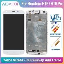 AiBaoQi Neue Original 5,5 inch Touch Screen + 1280X720 LCD Display + Rahmen Montage Ersatz Für Homtom HT6/HT6 pro Android 6,0