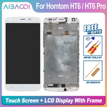 AiBaoQi New Original 5.5 inch Touch Screen+1280X720 LCD Display+Frame Assembly Replacement For Homtom HT6/HT6 Pro Android 6.0