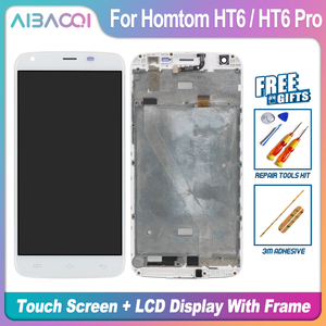 Image 1 - AiBaoQi nouveau Original 5.5 pouces écran tactile + 1280X720 écran LCD + cadre assemblage remplacement pour Homtom HT6/HT6 Pro Android 6.0